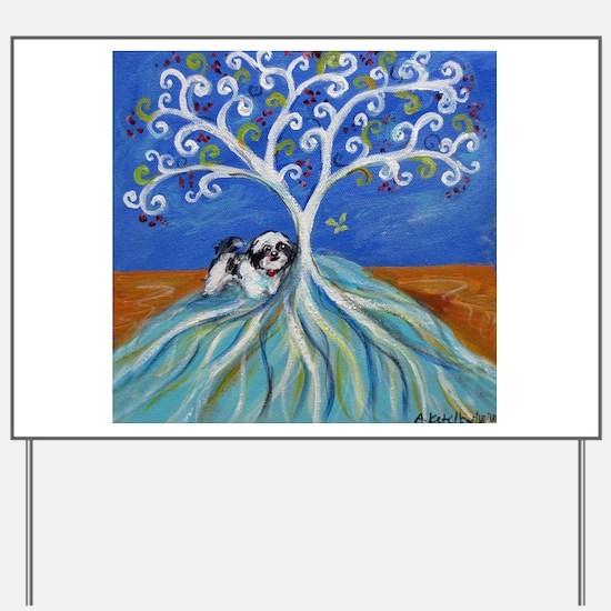 Shih Tzu spiritual love tree Yard Sign