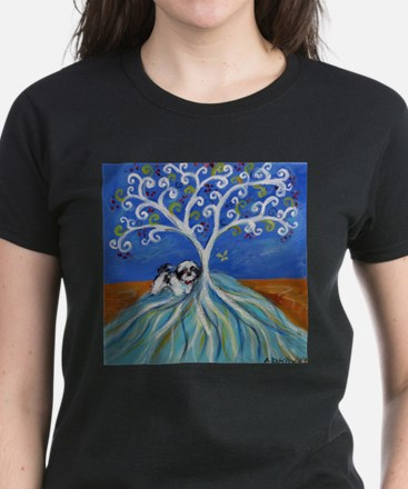 Shih Tzu spiritual love tree T-Shirt
