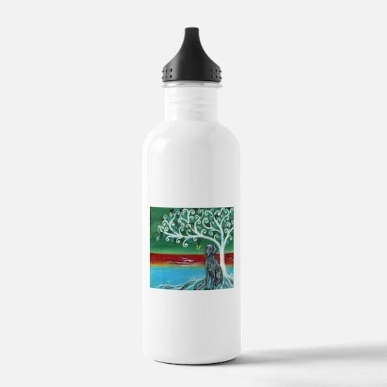 Weimaraner Spritual Love Tree Water Bottle