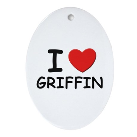 I love Griffin Oval Ornament