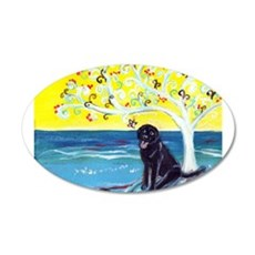 Black Labrador Love Spritual Tree Wall Decal