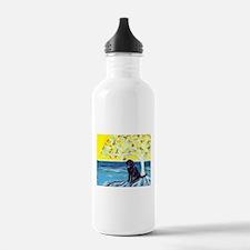 Black Labrador Love Spritual Tree Water Bottle