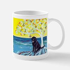 Black Labrador Love Spritual Tree Mug
