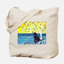 Black Labrador Love Spritual Tree Tote Bag