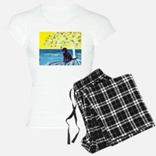 Black Labrador Love Spritual Tree Pajamas