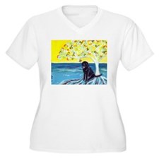 Black Labrador Love Spritual Tree Plus Size T-Shir