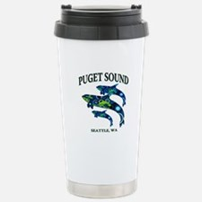 Puget Sound Orcas Travel Mug