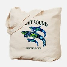 Puget Sound Orcas Tote Bag