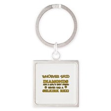 Selkirk Rex cat lover designs Square Keychain