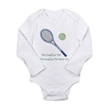 Personalized Tennis Long Sleeve Infant Bodysuit