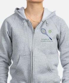 Personalized Tennis Zipped Hoodie