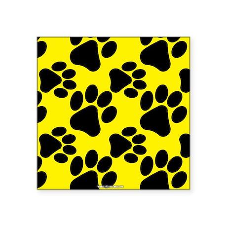 Dog Paws Yellow Sticker