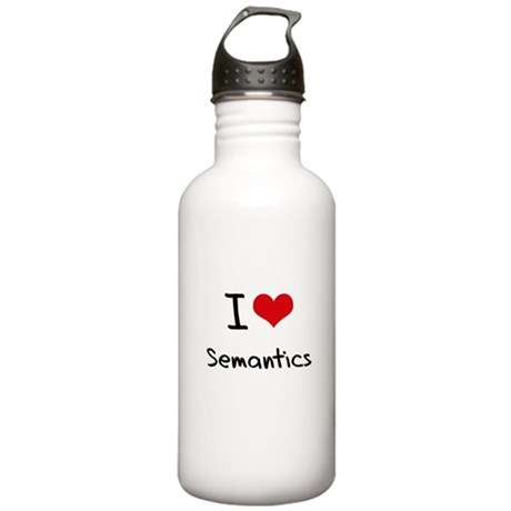 I Love Semantics Water Bottle