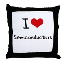 I Love Semiconductors Throw Pillow