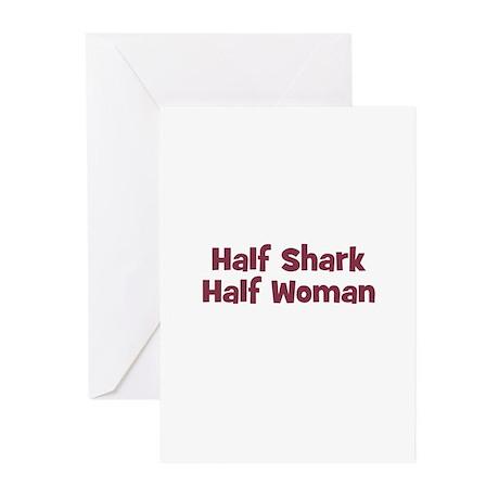 Half SHARK Half Woman Greeting Cards (Pk of 10