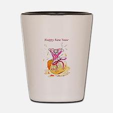 Honey Bunny New Year Shot Glass