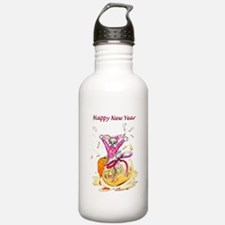 Honey Bunny New Year Water Bottle