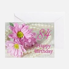 84th Birthday card with daisies Greeting Card