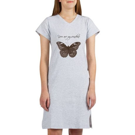 You are my Sunshine Butterfly Women's Nightshirt