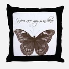 You are my Sunshine Butterfly Throw Pillow