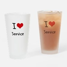 I Love Service Drinking Glass