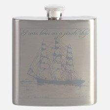 Born on a Pirate Ship Flask