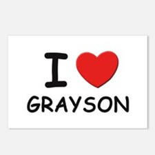 I love Grayson Postcards (Package of 8)