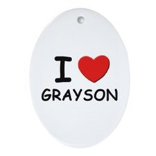 I love Grayson Oval Ornament