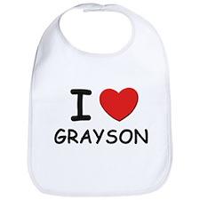 I love Grayson Bib