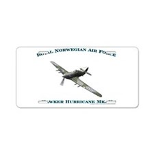 RNoAF Hawker Hurricane Aluminum License Plate