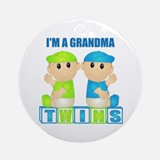 I'm A Grandma (PBB:blk) Ornament (Round)
