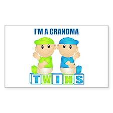 I'm A Grandma (PBB:blk) Rectangle Decal