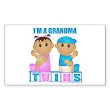 I'm A Grandma (TBG:blk) Rectangle Decal