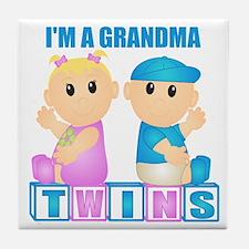 I'm A Grandma (BBG:blk) Tile Coaster