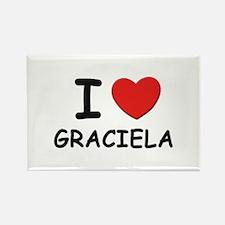 I love Graciela Rectangle Magnet