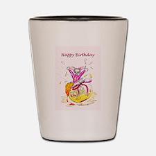 Honey Bunny Happy Birthday Shot Glass