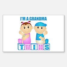 I'm A Grandma (PBG:blk) Rectangle Decal