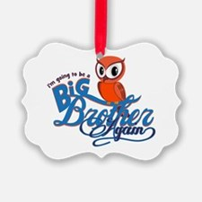 Im going to be a Big Brother Again Owl Ornament