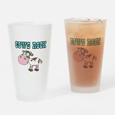 Cows Rock Drinking Glass