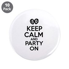 """50 year old designs 3.5"""" Button (10 pack)"""