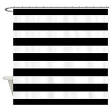 Black and white Stripe Shower Curtain