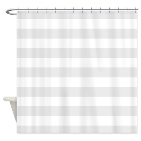 Grey And White Striped Shower Curtain By InspirationzStore