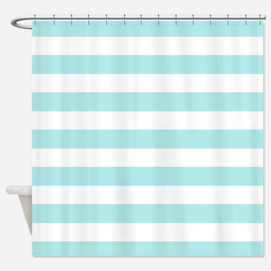 teal striped shower curtain. Mint blue and white stripe Shower Curtain Teal Horizontal Striped Curtains  CafePress