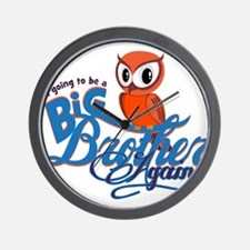 Im going to be a Big Brother Again Owl Wall Clock