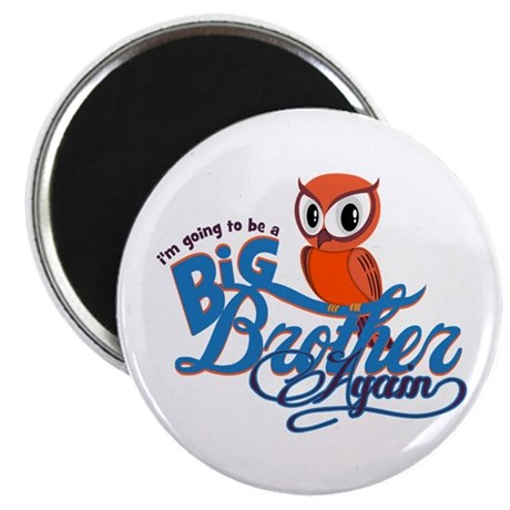 Im going to be a Big Brother Again Owl Magnet
