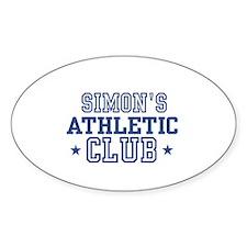 Simon Oval Decal