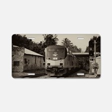 Unique Rolling stock Aluminum License Plate