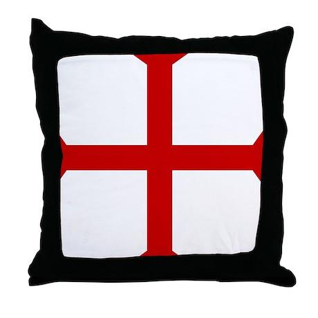 Templar Cross Throw Pillow