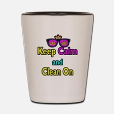 Crown Sunglasses Keep Calm And Clean On Shot Glass