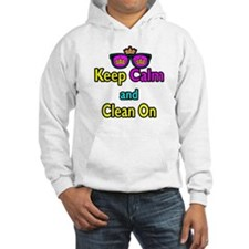 Crown Sunglasses Keep Calm And Clean On Hoodie
